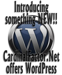 CardinalFactor.Net offers wordpress